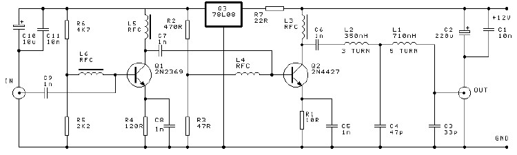 250mw Low Power Audio Amplifier Circuit Diagram Project
