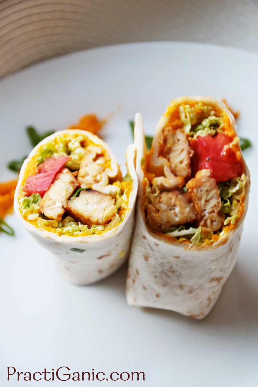 Smoked Tempeh & Spicy Carrots Wraps