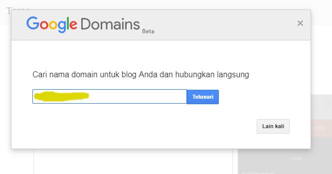 keuntungn mengganti domin blogspot ke domain TLD