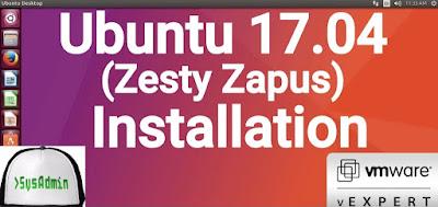 Ubuntu 17.04 (Zesty Zapus) Installation
