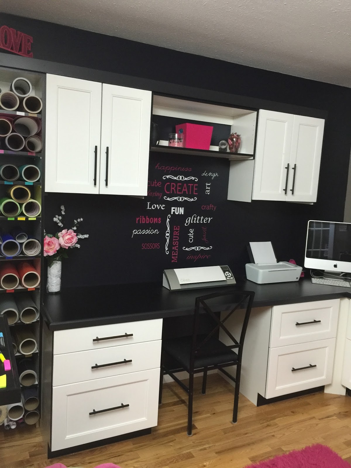 CJs Elite Woodworks Custom cabinetry for craft room