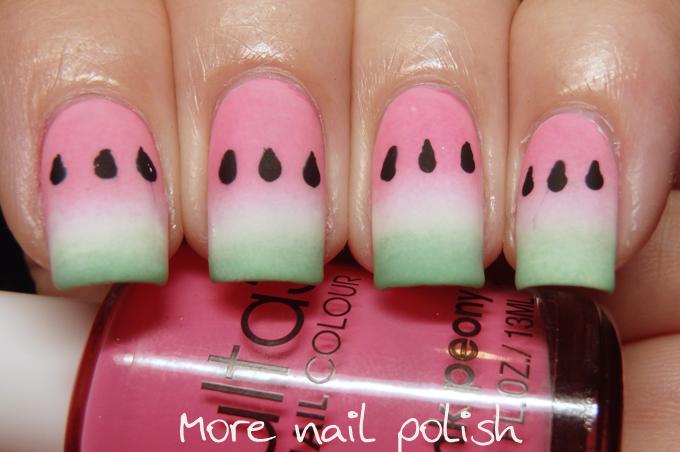 40 great nail art ideas food more nail polish prinsesfo Gallery