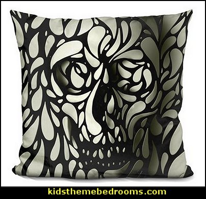 Skull Throw Pillow  Skull decor - skull bedding - skull pattern bedding - decorative skulls - sugar skull bedding - skull themed room - skull bedroom wallpaper - Skull bedroom decorating ideas - skulls - gothic skull decor - Monster High bedroom ideas - Monster High wall decals - Monster High room decor - skull bedroom decor ideas