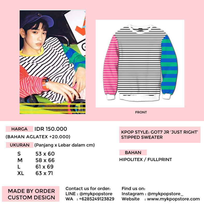 GOT7 JR 'Just Right' Color Stripped Sweater - mykpopstore