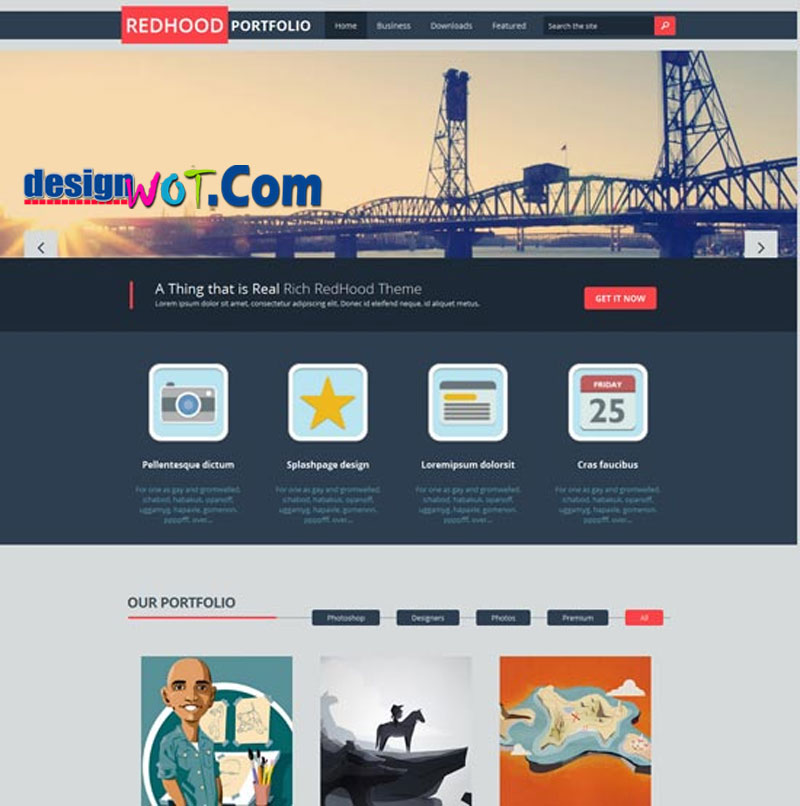 RED HOOD - Responsive Blogger Template