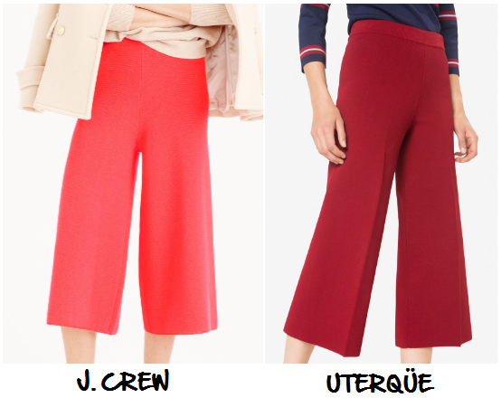 clones 2016 pantalones culotte J. Crew Uterqüe