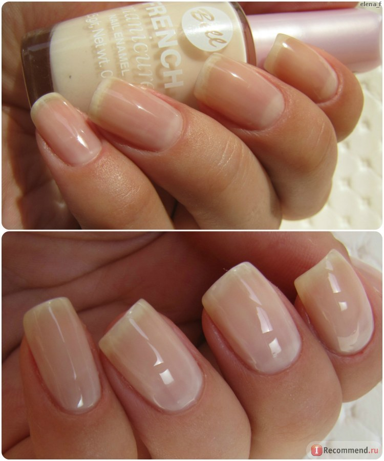 Nails of Elena_f with Bell French manicure