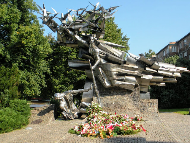Things to do in Gdansk Poland: visit the World War II (WWII) memorial near the post office