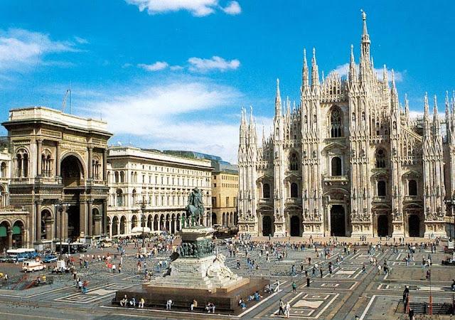 Centro histórico em Milão