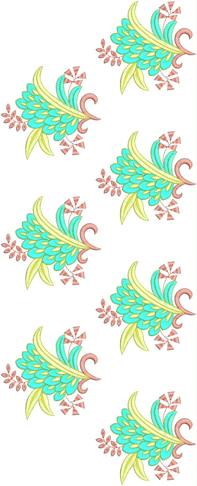 Embdesigntube Patches Allover Flat Embroidery Designs