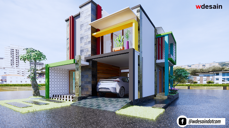 Model Rumah Minimalis 2 Lantai 8x12 Desain Rumah Minimalis