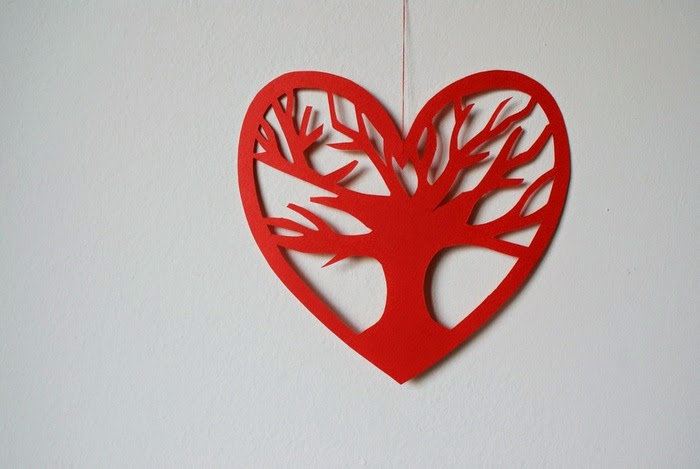 heart hanging cardboard decoration diy
