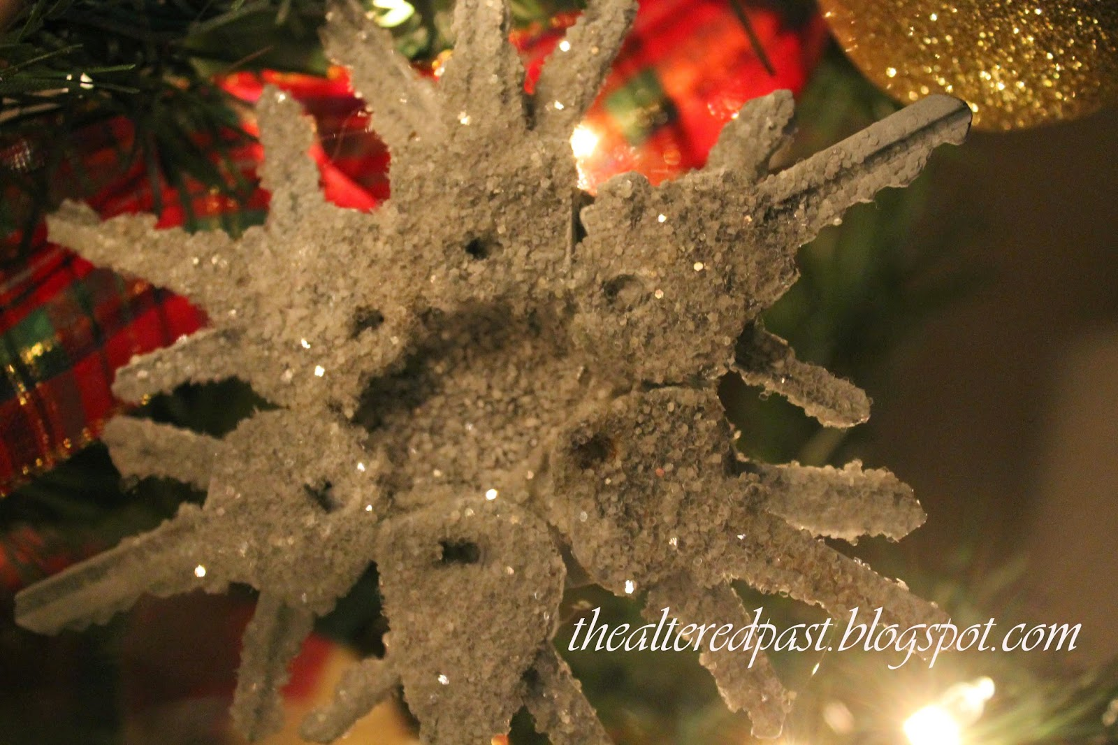 beautiful snowflake made from old keys, the altered past blog