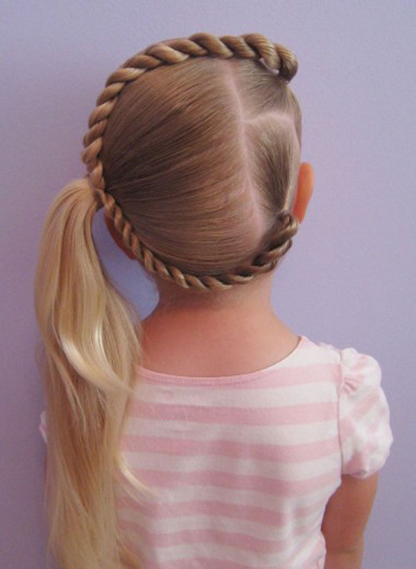 Hairstyles And Women Attire Letter Hair Fun For Little Kid
