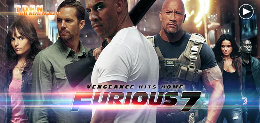 Vin Diesel, Paul Walker, Dwayne Johnson, Michelle Rodriguez, Tyrese Gibson și Jordana Brewster în Furious 7