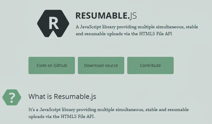 Drag and Drop HTML5 Upload with Resume Feature