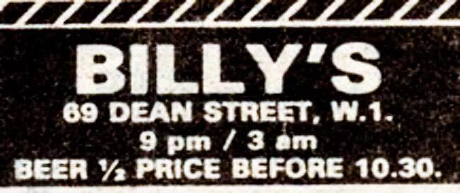 19 Apr 1980, Billy's Club, London - ACR Gigography
