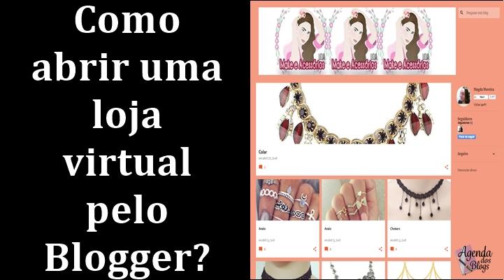 Loja virtual no Blogger.