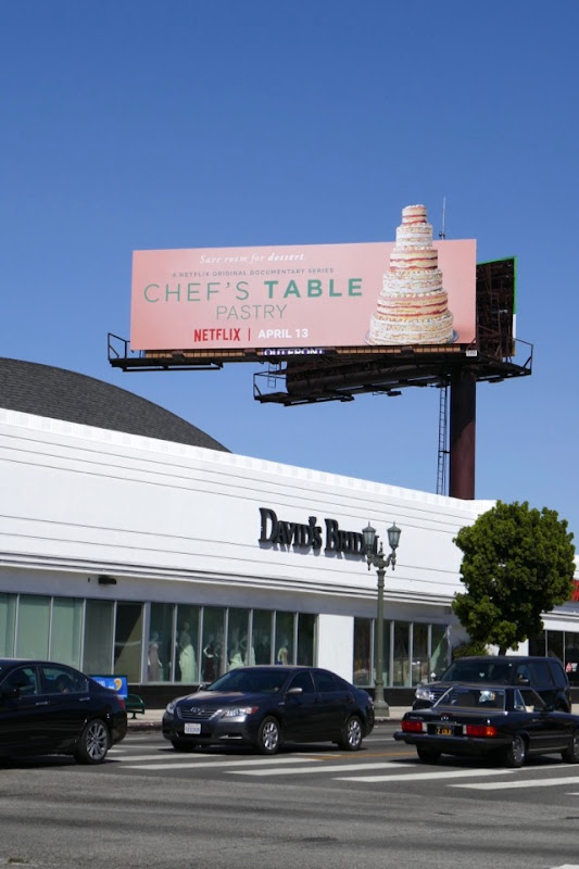 Chefs Table Pastry TV billboard