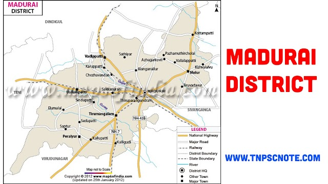 Madurai  District Information, Boundaries and History from Shankar IAS Academy