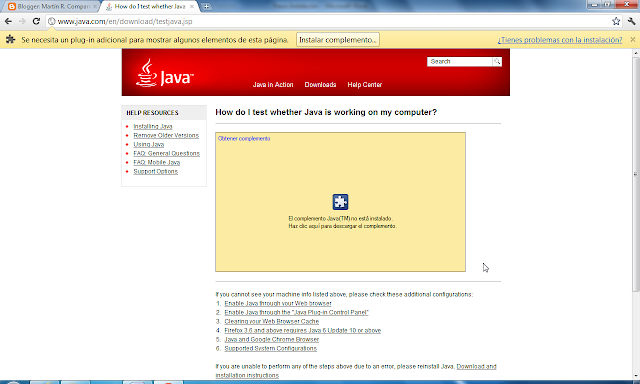 Testing installation of java runtime and j-review login.
