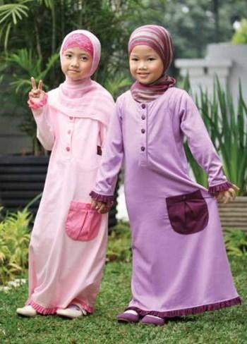 Baju Muslim Anak Gamis bahan Kaos