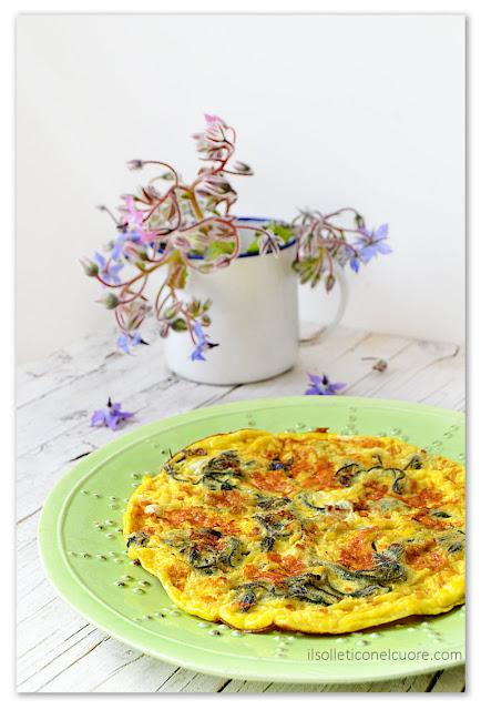 frittata-con-fiori-di-borragine