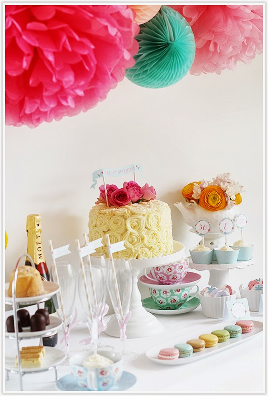 Tea party dessert table by Paper & Party Love