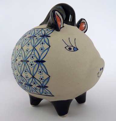 ceramic piggy bank from Mexico