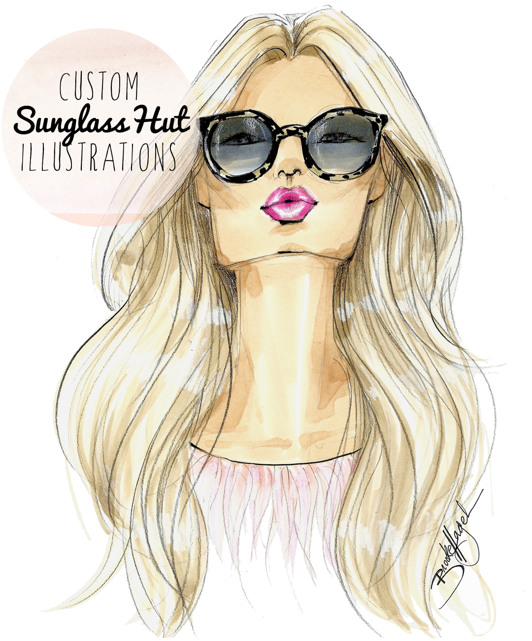 ea934d844b74 Custom fashion illustrations as Valentines were my month long project last  month commissioned by Sunglass Hut and Ray-Ban and today I m sharing a few  of my ...