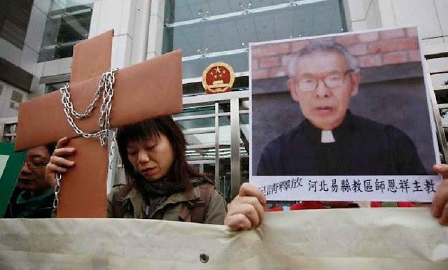Apelo em Hong Kong pelo bispo Cosme Shi Enxiang, provavelmente morto num cárcere comunista chinês
