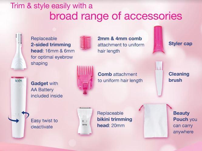 veet sensitive touch trimmer, pencukur untuk wanita, wanita anggun bergaya, penampilan menarik