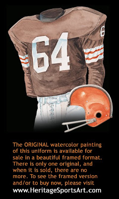 Cleveland Browns 1964 home uniform