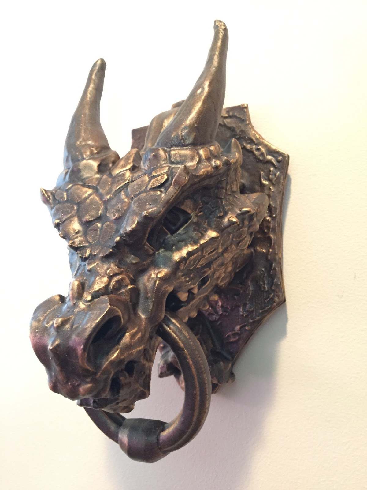 Parts and krafts dragon door knocker 3d print - Dragon door knocker ...