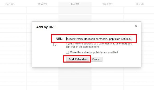 Google Calendar add calendar by url link
