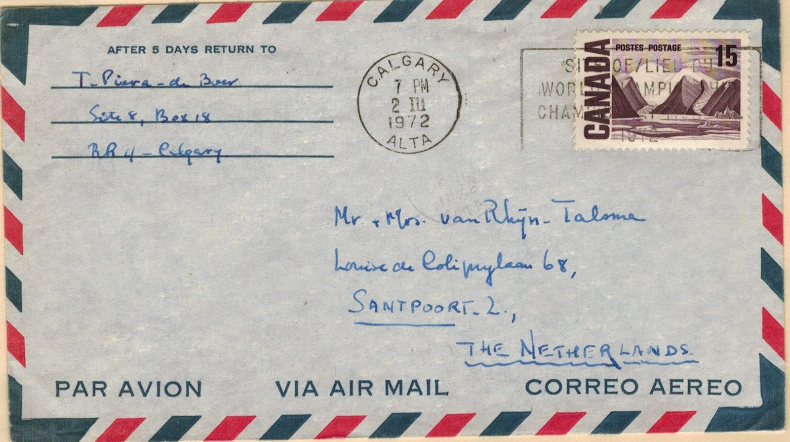 Postal History Corner: Centennial Period International Air Mail Rates