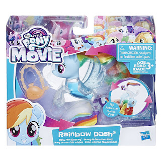 MLP The Movie Rainbow Dash Flip & Flow Seapony Brushable