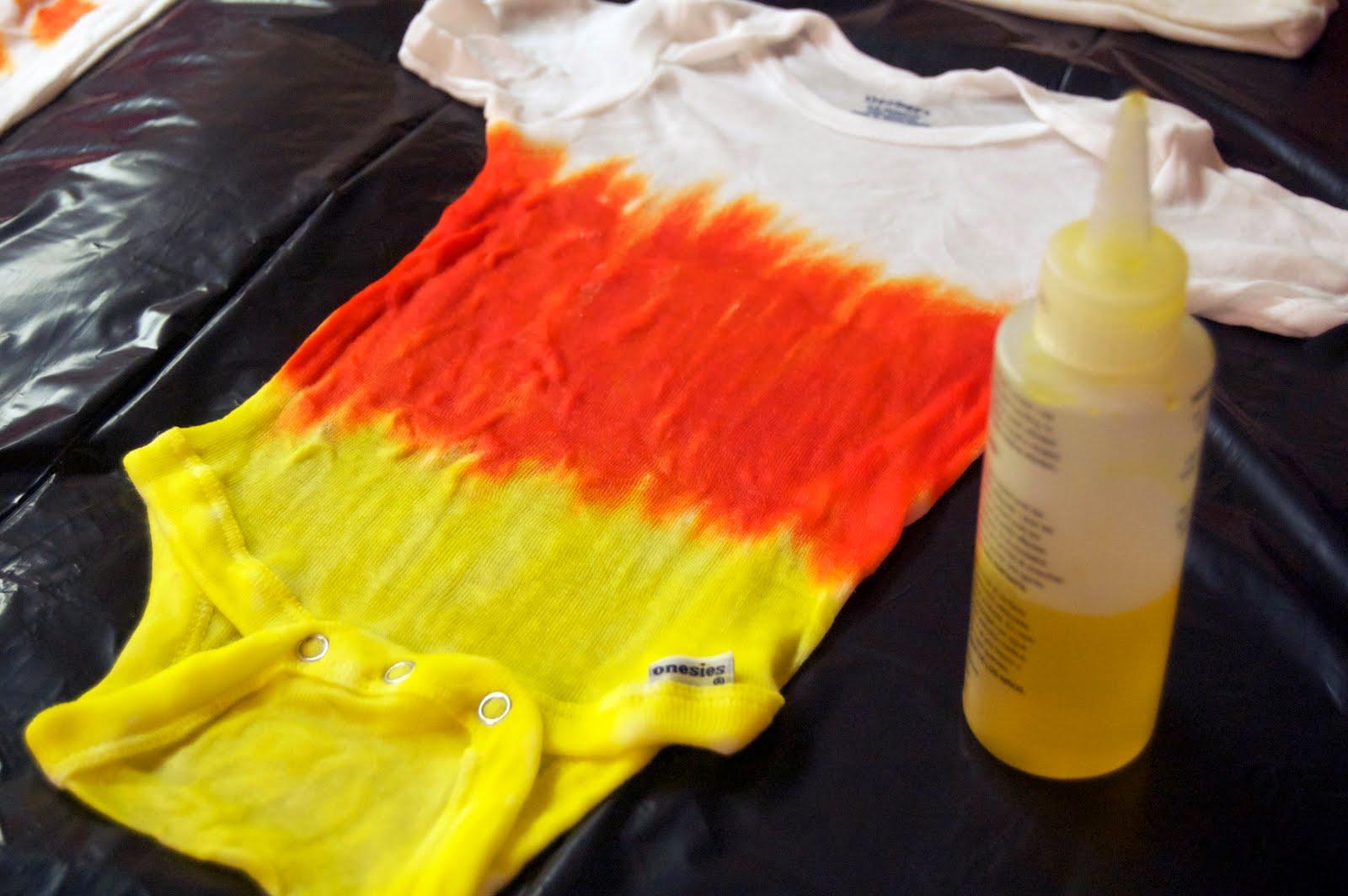 & Make a Candy Corn Tie Dye Onesie