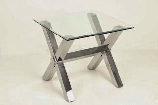 mesa lateral en acero, mesa centro rincon, mesa auxiliar