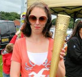 Olympic Torch And The Mansfield Fun Run 2012