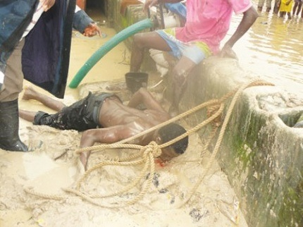 Drama as Man Commits Suicide by Jumping Into Canal (Photo)