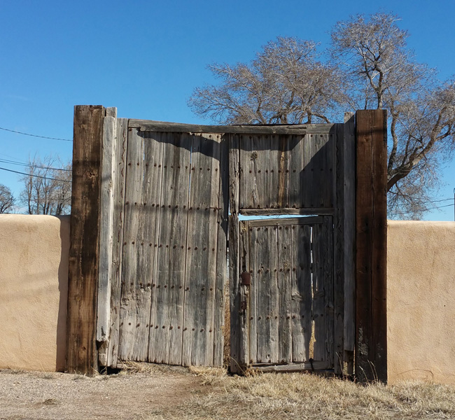 Old Wooden Doors in Mountainair, New Mexico