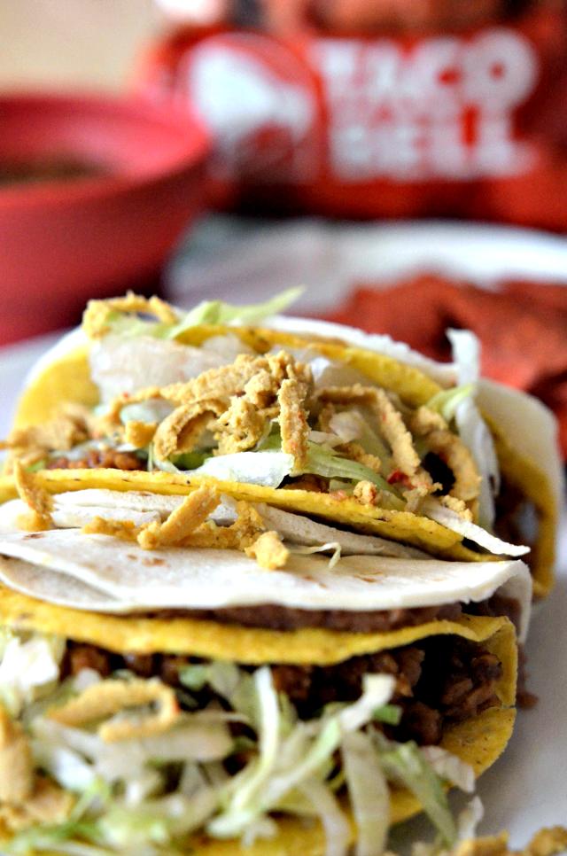 vegan double decker taco bell, vegan double decker tacos, diy double decker taco, double decker taco recipe, double decker taco bell recipe, double decker taco recipes, taco bell double decker taco recipe, double decker tacos recipe, vegan taco bell recipe, vegan taco bell meat recipe, vegetarian vegan taco bell recipes, vegan taco bell recipes, 90s recipes, 90s dinner recipes, 90s themed recipes, 90s food recipes, 90s party food recipes, 90s party recipes