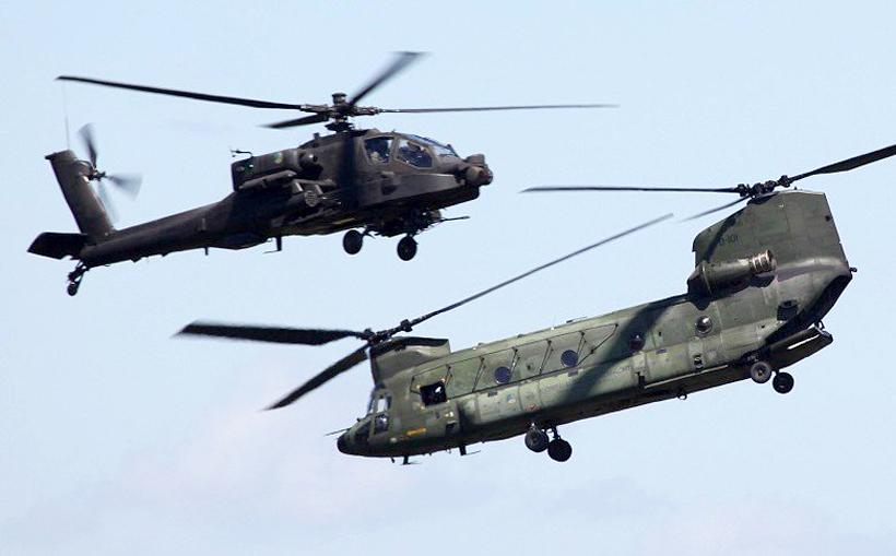 Helikopter AH-64E Apache, Helikopter Chinook