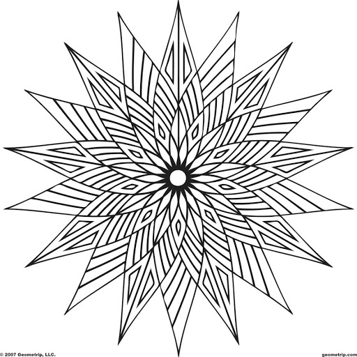 geometric coloring pages cool - photo#24