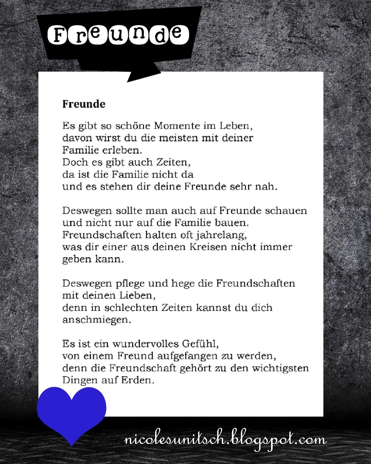 New Schöne Gedichte Für Freunde Zitate Freundschaft