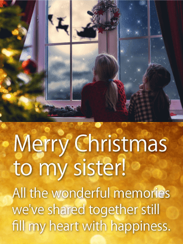 merry christmas quotes for sisters