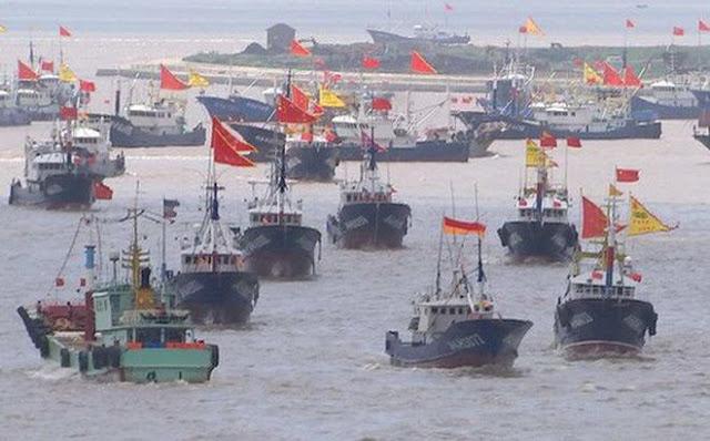 Tàu thuyền tại TP Chu San – Trung Quốc ra khơi đánh bắt
