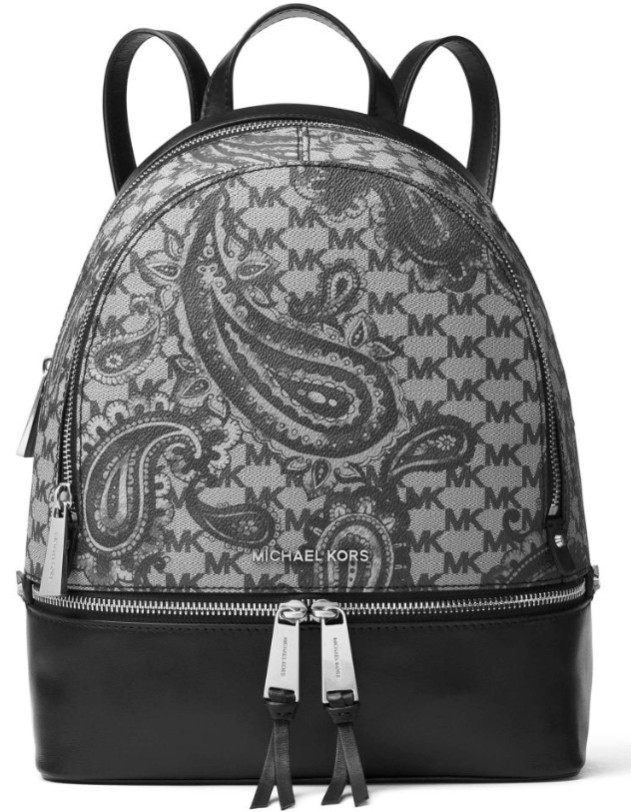 a8bf825d9c01 Michael Kors Studio Rhea Medium Heritage Paisley Zip Backpack Retail Price:  USD358 Price: RM2050. Colour: Navy, Luggage, Black