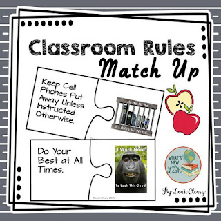 Classroom Rules Match Up